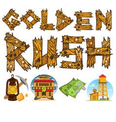 goldfield wild west shack prospector tools money vector image vector image