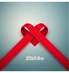 Heart from Ribbon vector image