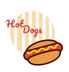 Hot dog fast food cartoon vector