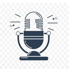 microphone for the radio black and white vector image