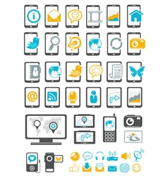 Modern gadget and mobile device vector image vector image