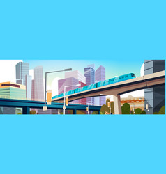modern urban panorama with high skyscrapers and vector image