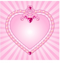 princess pink frame vector image vector image