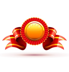 red badge vector image vector image