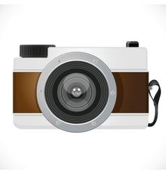 Retro camera isolated on white background vector image
