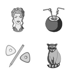 Salon cosmetology art and other monochrome icon vector