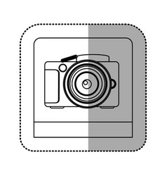 Silhouette studio professional camera icon vector