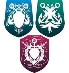 three shields vector image vector image