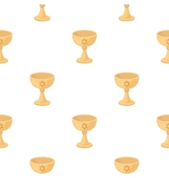 Wine cup icon in cartoon style isolated on white vector image vector image