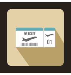 Airline boarding pass ticket icon flat style vector