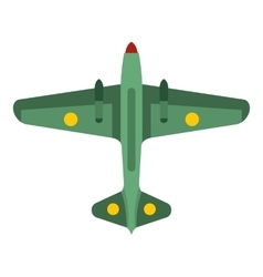 Army fighter icon flat style vector