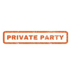 Private party rubber stamp vector
