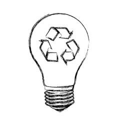 contour bulb eco icon vector image