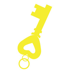isolated golden key vector image