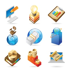 Icon concepts for business vector