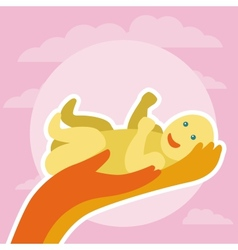 Newborn greeting card vector