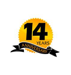 14 years ribbon anniversary vector image vector image