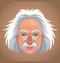 face character scientist physical vector image