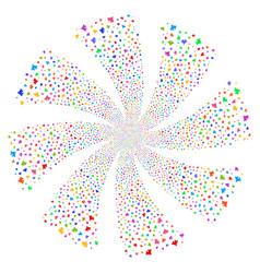 component fireworks swirl flower vector image