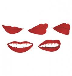 female lips vector image