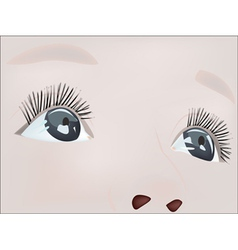 Realistic eye little toddler vector