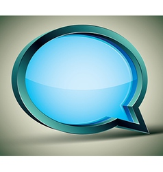 3d modern style speech bubble vector image