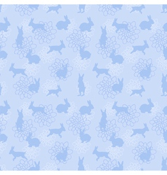 Blue enchanted lapins pattern vector