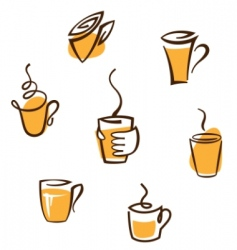 Coffee cup signs vector