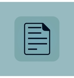 Pale blue document icon vector