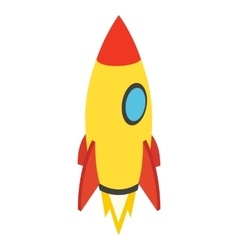 Rocket isometric icon vector