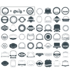 Make your labels or logotypes concept set retro vector