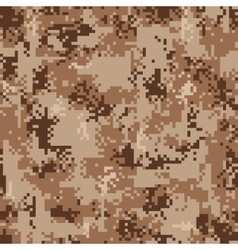 Digital desert camouflage seamless pattern vector