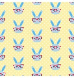 Smart bunny pattern vector