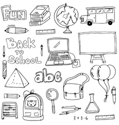 Hand draw education element doodles vector