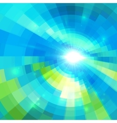 Abstract blue technology concentric mosaic vector image vector image