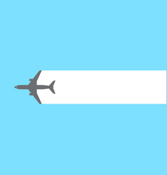 airplane stream background vector image