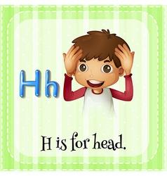 Alphabet H vector image vector image