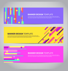 banner covers with bright flat geometric pattern vector image vector image