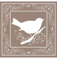Bird frame vintage vector image vector image