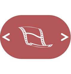 Blank film strip icon vector