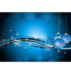 Blue christmas waves vector image vector image