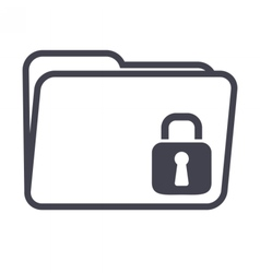 Computer Folder Security vector image vector image