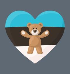 Estonian Teddy Bears vector image vector image