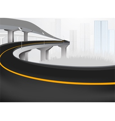 Express way into city vector image
