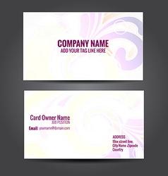 Floral design business card vector