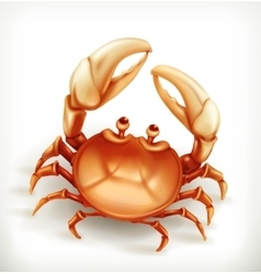 Funny crab icon vector