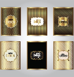 gold stylish brochure templates 2311 vector image