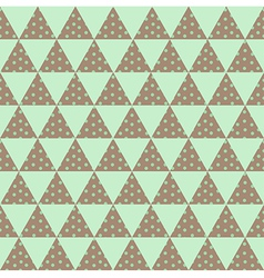 green triangle pattern vector image vector image
