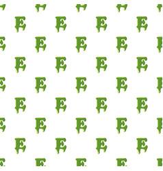 Letter e made of green slime vector