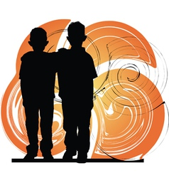 Little kids vector image vector image